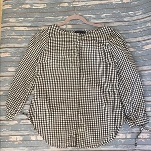 Sanctuary checkered blouse